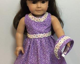 "18"" Doll Dress - Fits like American Girl doll Dress or American Girl Doll Clothes - 18"" Doll clothes"