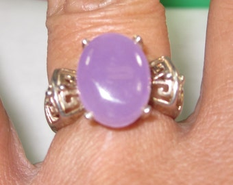H-43 Vintage Ring size 6 chalcedony stone