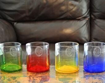 Set of 4 Ciroc Glasses Tumblers / Vodka Glasses / Glass Tumbler / Low Ball Glass / Vodka Gifts / Set of Liquor Bottle Glasses / Liquor Gifts