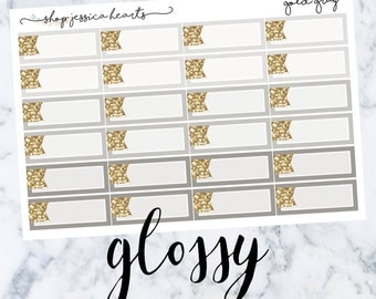 Gray Gold (GLOSSY) Glitter Appt Boxes