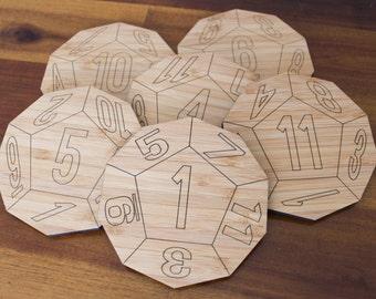 D12 Coasters