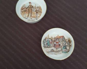 Vintage set of two Lancaster and Sandland English ears pieces - Hanley England