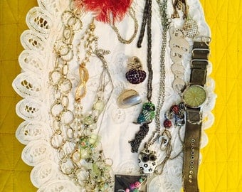 Lot of vintage and costume jewelry