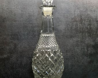 Liquor Decanter, Vintage Decanter, Vintage, 1960s, Liquor Bottle, Barware, Mad Men, Glass Decanter, Liquor, Mid-Century Barware, Decanter