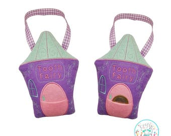 ITH Tooth Fairy Hanging Pillow Embroidery Machine Pattern, Tooth fairy Pillow pattern, Tooth Fairy pocket, Tooth fairy bag, Fairy house