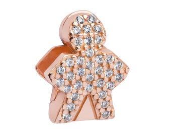 Rose Gold Diamond Boy Charm