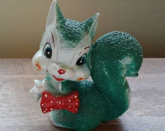 Vintage Arnart Sugar Texture Squirrel Mom