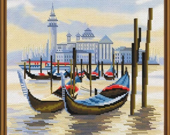Cross Stitch Kit  Wharf in Venice