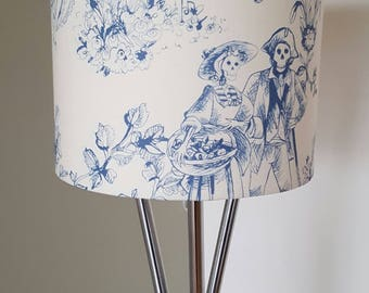 The Romantics Skeleton Navy & Cream Alternative Lampshade