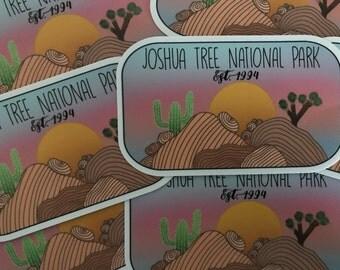 SALE LARGE Joshua Tree National Park Vinyl Sticker
