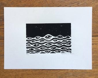 Eyesea A4 Lino Print