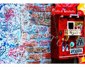 Valentines Day Decor Wall Art Romeo and Juliet Love Letters Juliet Balcony Verona Italy Photography Download Love Letter Box Valentines Gift