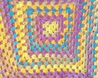 Sunny Granny Square Blanket