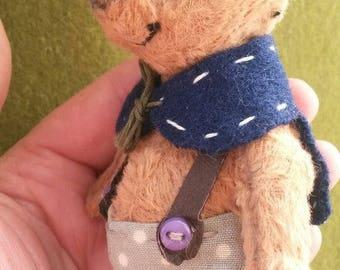 Miniature Teddy Bear Voljka Birthday gift Stuffed toy OOAK  Artist bears Handmade toy