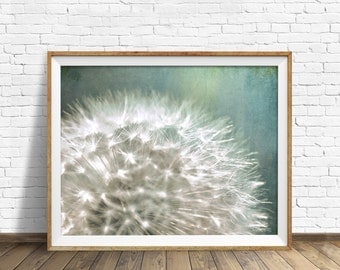 "dandelion, photography, instant download printable art, large art, large wall art, botanical prints, nature wall art, nature prints -""Still"""