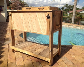 Rustic Palette Wood Cooler