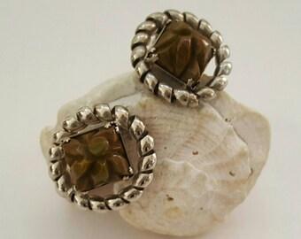 Carved Bakelite Earrings