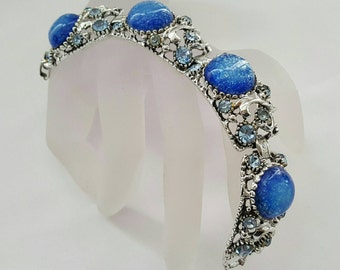Vintage Blue Glass Bracelet