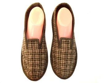 Men Slippers, Adult Slippers, Velvet Slippers, Slippers for Men, Wool Slippers, House Shoes, Soft Sole Shoes, Travel Slippers, Shoes US 8,5