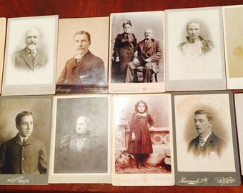 24 Cabinet Card Lot | 1800s Cabinet Cards | Beautiful Ladies and Gentleman of Scholar with Kids Lot | Great Deal