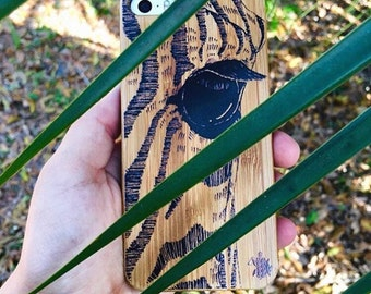 Iphone 6 case, Zebra Eye by Crystal, iPhone 6, eco friendly phone case, bamboo phone case