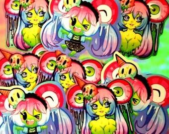 Cute Slime Girl Stickers