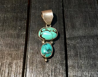 Vintage Navajo Sterling Silver/ Turquoise Pendant   #147