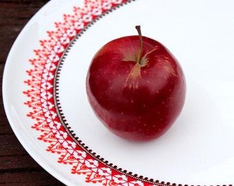 Large serving platter, hand painted design