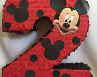 Large Number 2 Mickey Mouse Pinata