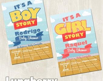Toy Story Invitation   Toy Story Baby Shower Invitation   Itu0027s A Boy Story    Itu0027s