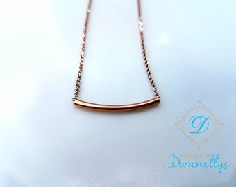 Delicate bar necklace, 14kt rose gold filled, Sterling silver,  14kt yellow gold filled, elegant,  stylish, mom gifts, gift ideas