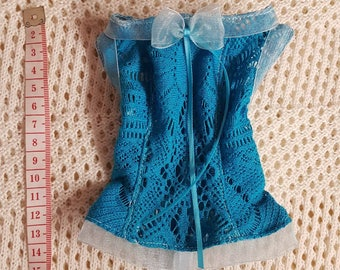 CLEARANCE knitted laced blue top for SD Dollfie Dream