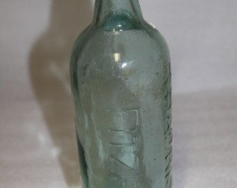 antique bottle early 1900's vintage bottle R Harrison Fitzroy collectible bottle old bottle old glass bottle