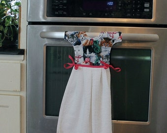Cats and Kittens Kitchen Towel that looks like a dress