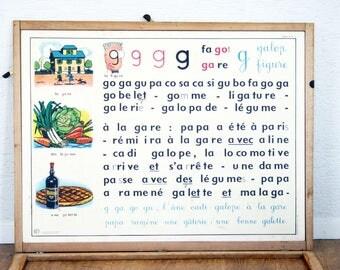 Poster vintage school