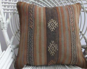 turkish pillow cover 18x18 pastel cushion pillow cover vintage turkish kilim rug pillow turkish decorative pillow sham euro sham 18x18 1372
