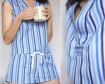 Blue pajama set, ON SALE - 50% OFF