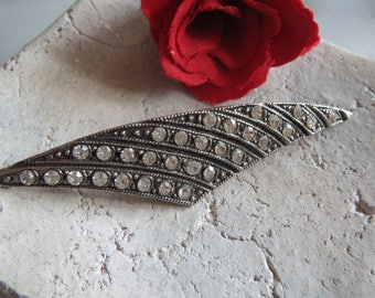 Rhinestone Brooch-Noble vintage-punched Vintagebrosche-marcasite-Strassbrosche, great old brooch, signed, with Punze, for collectors