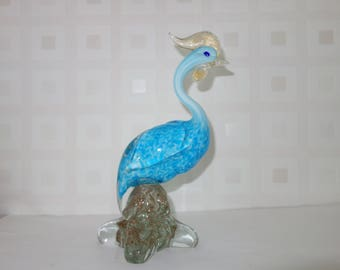 Murano Fantasy bird art glass sculpture 1950's