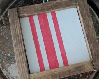 Rustic farmhouse inspired grainsack ultra mini framed wood sign