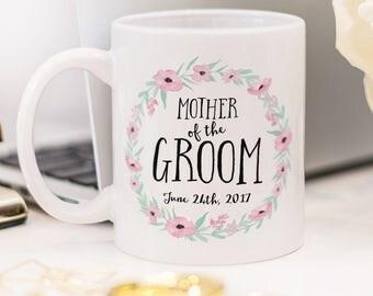 Mother of the Groom mug, beautiful wedding gift!