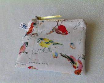Handmade fabric coin purse