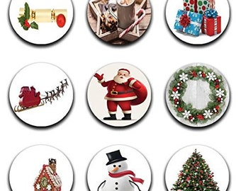 A pack of 9 christmas themes Pattern weights Ideal for weighing down patterns on delicate fabrics no need for pins TV sewing Bee