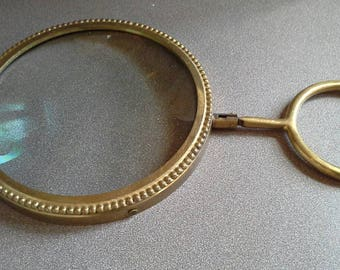 Large brass magnifing glass