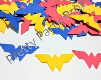 Over size wonder woman Party Confetti, wonderwoman Party Confetti 100 piece