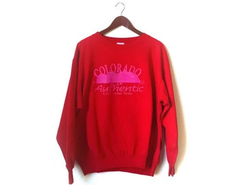 Vintage 1980s Colorado Authentic Centennial State Colorado souvenir crew Sweatshirt