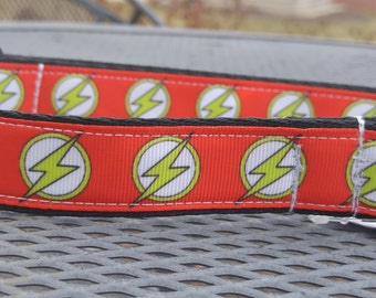 DC Flash inspired dog collar