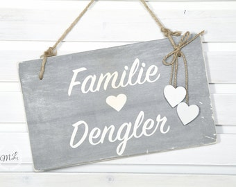 Door sign personalized