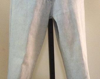 1990s, Gianni Versace, women's, faded, blue jeans, size XXS, Vintage