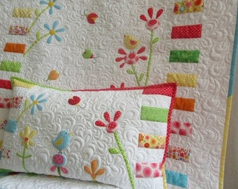Set-baby quilt + pillow